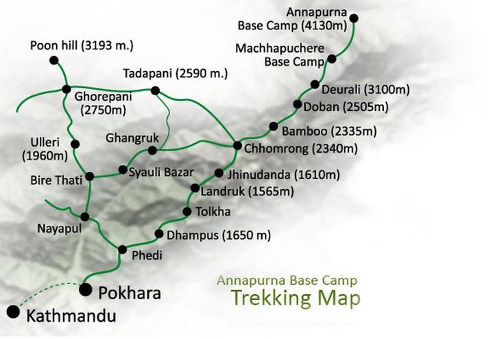 Annapurna View Trek Map